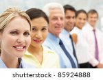 mixed group business people | Shutterstock . vector #85924888