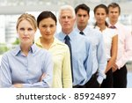 mixed group business people | Shutterstock . vector #85924897
