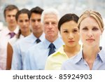 mixed group business people | Shutterstock . vector #85924903