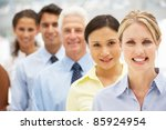 mixed group business people | Shutterstock . vector #85924954