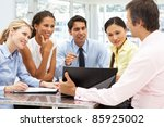 mixed group in business meeting | Shutterstock . vector #85925002