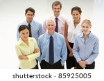 mixed group business people | Shutterstock . vector #85925005