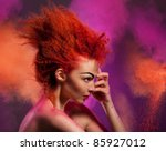 Beauty Portrait Of Woman With...