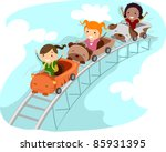 illustration of kids riding a... | Shutterstock .eps vector #85931395