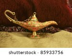 colorful genie lamp  also... | Shutterstock . vector #85933756