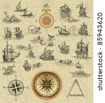 pirate map | Shutterstock . vector #85943620