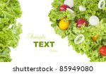 Fresh Salad Over White With...