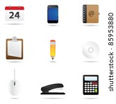 a set of office icons isolated... | Shutterstock .eps vector #85953880
