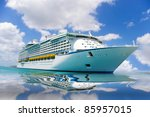 Cruise Ship In A Caribbean Sea