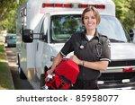 Portrait Of A Happy Paramedica...