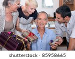 family birthday party | Shutterstock . vector #85958665