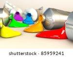 Rainbow Colorful  Oil Colors O...