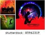 people dancing background party | Shutterstock .eps vector #85962319