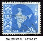vintage antique postage stamp...   Shutterstock . vector #8596519