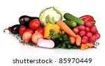 fresh vegetables isolated on... | Shutterstock . vector #85970449