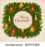 christmas background with... | Shutterstock .eps vector #85975384