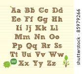 handwritten abc alphabet with... | Shutterstock .eps vector #85979266