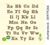handwritten abc alphabet with... | Shutterstock .eps vector #85979266