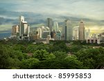 city high rise buildings  ... | Shutterstock . vector #85995853