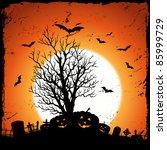 jack o' lantern background ... | Shutterstock . vector #85999729