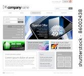 gray website template 960 grid. | Shutterstock .eps vector #86002438