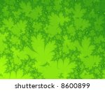 green leafs fractal graphic | Shutterstock . vector #8600899