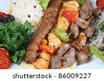 turkey meat dishes made from an ... | Shutterstock . vector #86009227