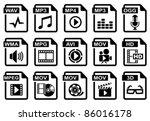 file type icons  audio   video...