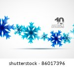 Blue Christmas Snowflakes....