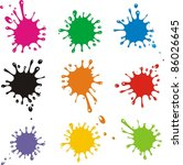 set of colored blots on the... | Shutterstock . vector #86026645