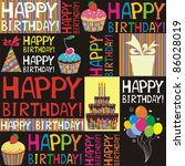 happy birthday. seamless...   Shutterstock . vector #86028019