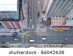 aerial view of downtown... | Shutterstock . vector #86042638
