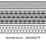 henna inspired banners borders  ... | Shutterstock .eps vector #86046079