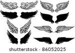 wings graphic vector set | Shutterstock .eps vector #86052025