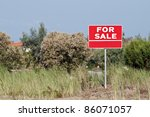 Land For Sale Sign In Empty...