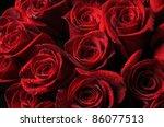 Stock photo closeup of beautiful red roses 86077513
