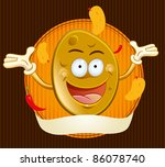 potato chips mascot | Shutterstock .eps vector #86078740