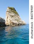 Beautiful cliffs on Zakynthos island - Greece - stock photo