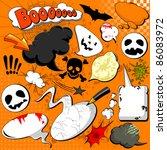 halloween comic speech bubbles...   Shutterstock .eps vector #86083972