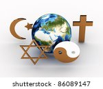 religious symbols of our planet.... | Shutterstock . vector #86089147