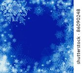 Frame with snowflakes - stock photo