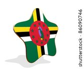 Dominica flag STAR BANNER - stock photo
