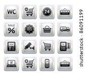 set pictogram supermarket... | Shutterstock .eps vector #86091199