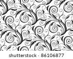 raster seamless floral damask... | Shutterstock . vector #86106877