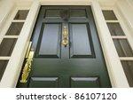 low angle closeup of a door... | Shutterstock . vector #86107120