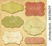 vintage frames | Shutterstock .eps vector #86108659