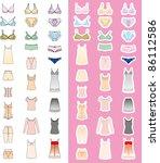 fashion woman underwear | Shutterstock .eps vector #86112586