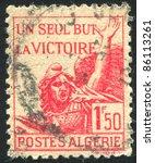 algeria circa 1943  stamp...   Shutterstock . vector #86113261