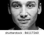 close up portrait of young man. ... | Shutterstock . vector #86117260