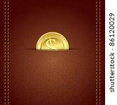 illustration of gold coin in... | Shutterstock .eps vector #86120029